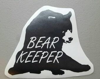 Bear Keeper Vinyl Decal