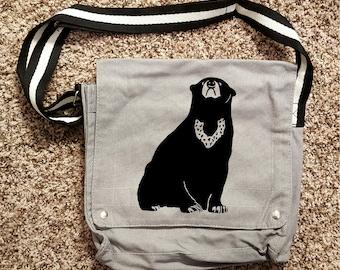 Sun Bear Canvas Shoulder Bag Messenger Bag