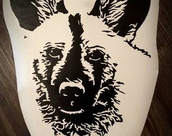 African Painted Dog Vinyl Decal