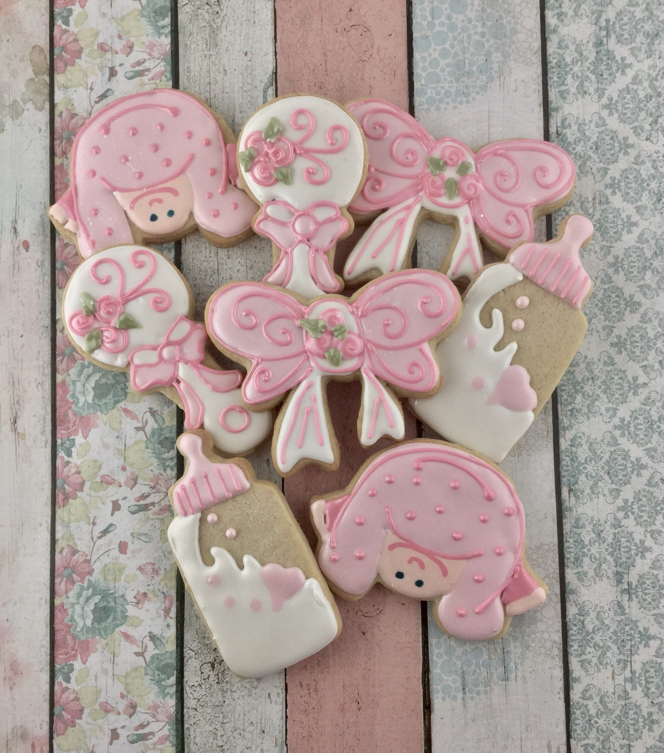 Baby Shower Cookies Baby Girl Cookies Baby Birthday Party