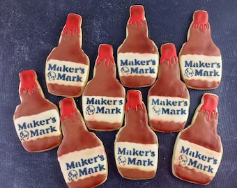 Bourbon Cookies, Makers Mark, Party, Dessert Table, beverage, liquor, Party, Rehersal Dinner Cookies
