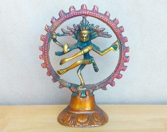 Small Dancing Shiva Statue - Nataraja - Hindu God - Hinduism Deity - Cosmic Dance - Metal Cast Statue - Home Decor