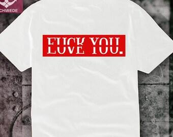 a0c9945374a92 T shirt fuck You love you silkscreen screen printing acab | Etsy