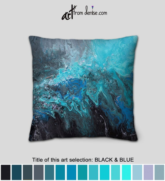 Enjoyable Gray Black And Blue Throw Pillows Or Cover Decorative Pillow For Bed Decor Big Couch Pillows Set Or Large Outdoor Pillow Sofa Cushion Ocoug Best Dining Table And Chair Ideas Images Ocougorg
