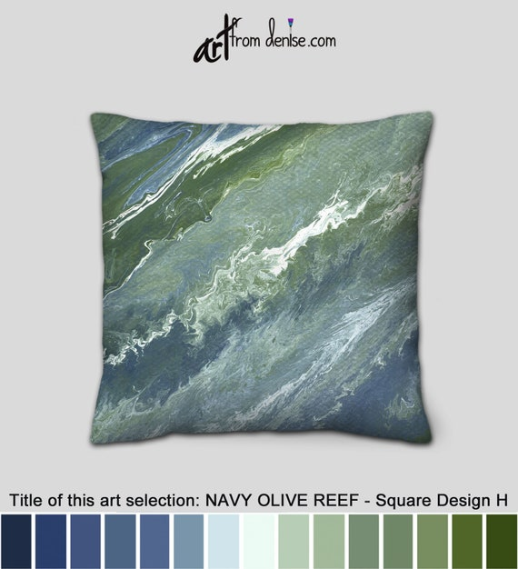 Superb Sage Green And Navy Blue Throw Pillows For Bed Decor Large Couch Pillows Set Decorative Sofa Cushion Covers Or Outdoor Pillows Pabps2019 Chair Design Images Pabps2019Com