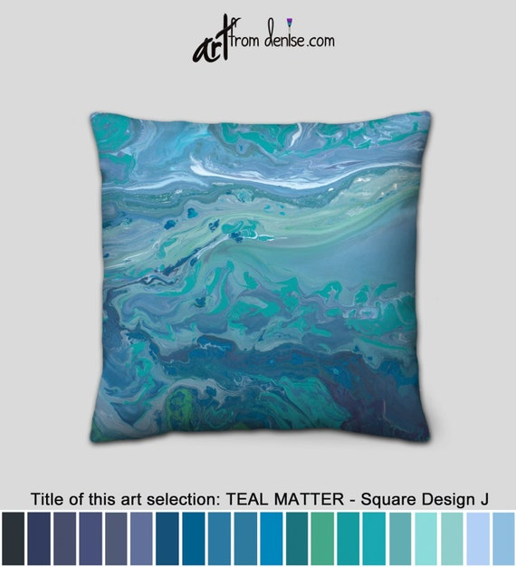 Outstanding Abstract Green Gray And Blue Throw Pillows For Couch Or Sofa Cushion Covers Teal Decorative Pillow For Bed Decor Or Large Outdoor Pillows Cjindustries Chair Design For Home Cjindustriesco