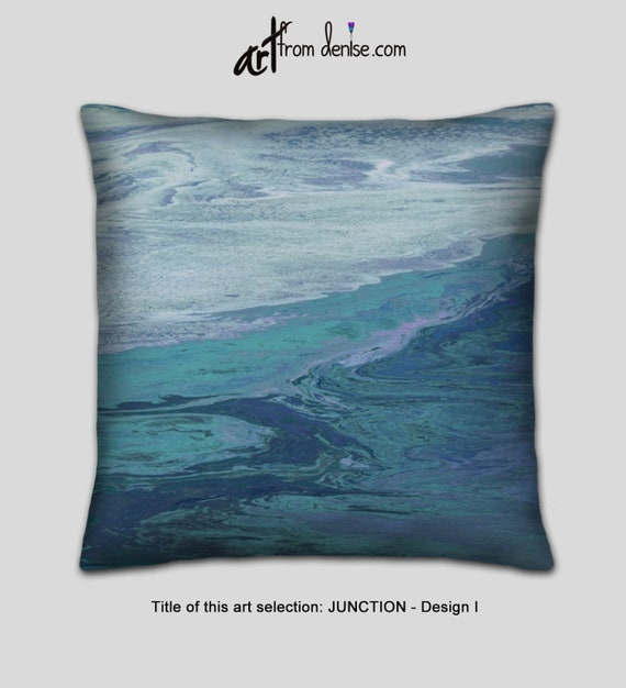 Gray teal and navy blue throw pillows for bed decor, large couch pillows  set, or outdooor sofa cushion accent