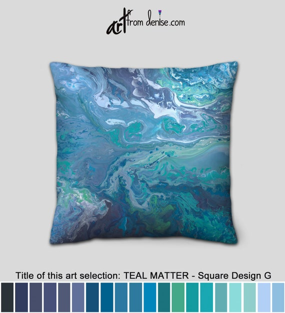 Astonishing Teal Throw Pillows Oversized Or Small Decorative Pillow For Bed Decor Big Couch Pillows Set Or Blue Outdoor Pillows Green Gray And White Dailytribune Chair Design For Home Dailytribuneorg