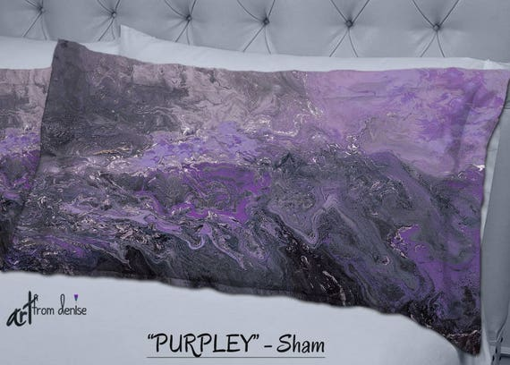 Exceptionnel Purple Pillow Shams Grey Plum Eggplant Bedroom Decor Dorm   Etsy