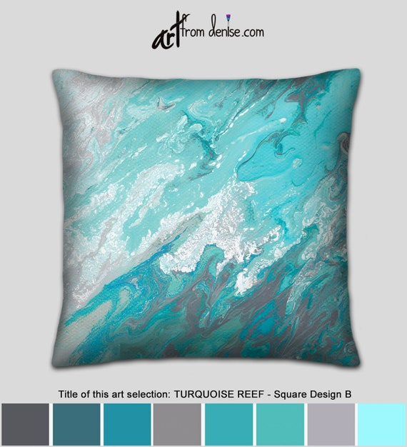 Excellent Blue White Gray Coastal Throw Pillows For Bed Decor Teal Turquoise Aqua Decorative Couch Pillows Set Covers Or Outdoor Sofa Cushion Uwap Interior Chair Design Uwaporg