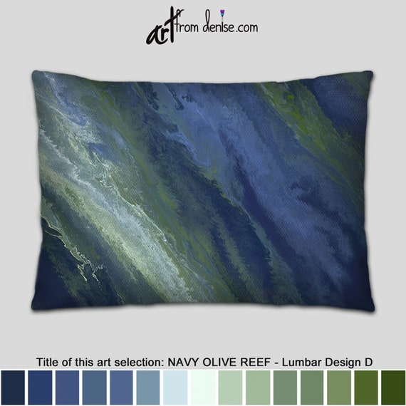 Stupendous Olive Green And Navy Blue Lumbar Support Pillow Decorative Throw Pillows For Large Couch Pillows Set Bed Decor Pillow Sofa Cushion Accent Ibusinesslaw Wood Chair Design Ideas Ibusinesslaworg
