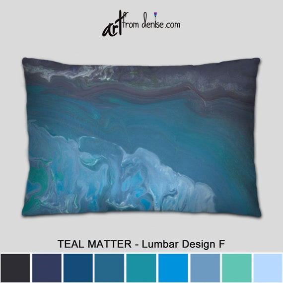 Decorative Lumbar Pillow Blue Gray Throw Pillows For Bed Decor Large Couch Pillows Set Outdoor Lumbar Support Sofa Cushion Covers