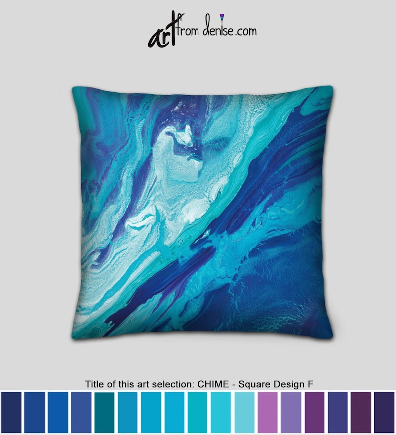 Cool Navy Blue Teal Throw Pillows Small Decorative Accent Pillow For Bed Decor Large Sofa Cushions Or Blue Outdoor Couch Pillows Pabps2019 Chair Design Images Pabps2019Com