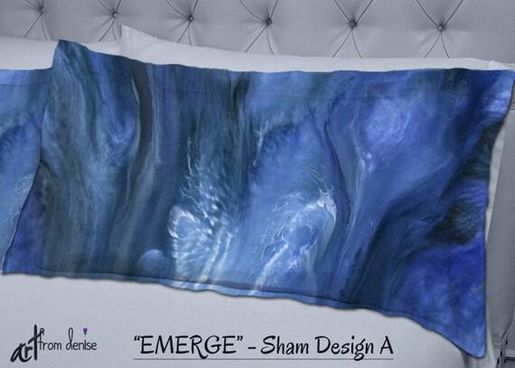 Navy Blue Decorative Bed Pillows: Navy Blue Decorative Pillow Sham Master Bedroom Decor Dorm