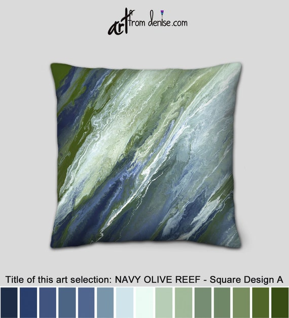 Strange Navy Throw Pillows Or Covers Olive Green Blue And White Decorative Pillow For Bed Large Couch Pillows Set Or Outdoor Sofa Cushions Ibusinesslaw Wood Chair Design Ideas Ibusinesslaworg