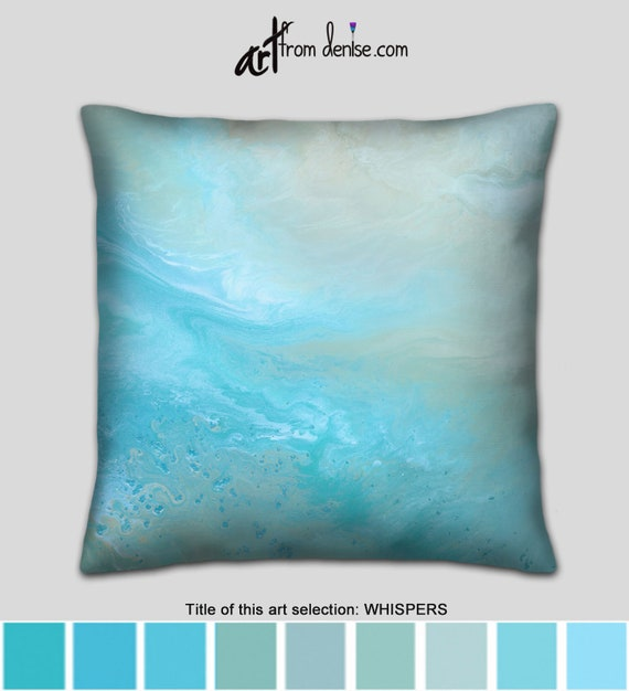 Pleasing Tan Aqua Blue Lumbar Pillow Or Large Couch Pillows Set Decorative Throw Pillows For Bed Decor Coastal Beach Decor Gmtry Best Dining Table And Chair Ideas Images Gmtryco
