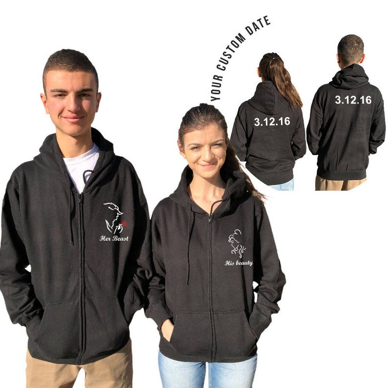My Beauty /& My Beast His and Hers NEW Couple Matching Hoodie Couple Hoodie
