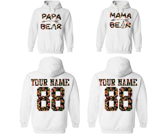 Mama Bear Papa Bear Hoodie Couples Matching Adult Unisex Sweatshirt