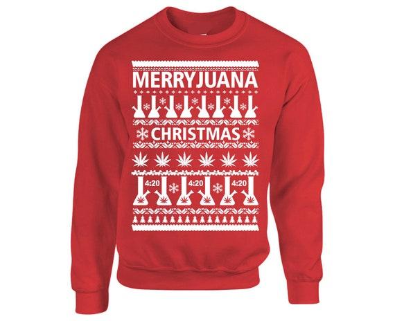 Mens Christmas Sweatshirt Dabbin Through The Snow Ugly Head down Top S-XXL