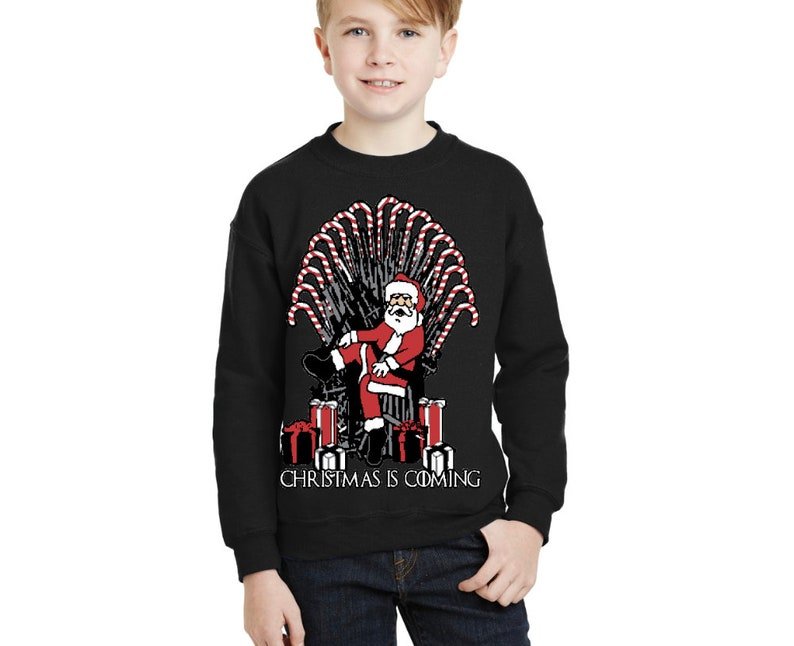 Christmas party Kids Unisex Sweatshirt GOT Santa Claus throne Youth ugly Christmas Sweater Holiday gift