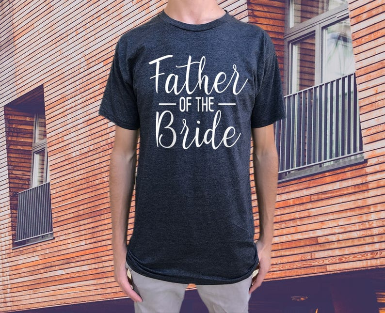 212169372 Father of the Bride T-shirt. Men's Mens t shirt tshirt | Etsy