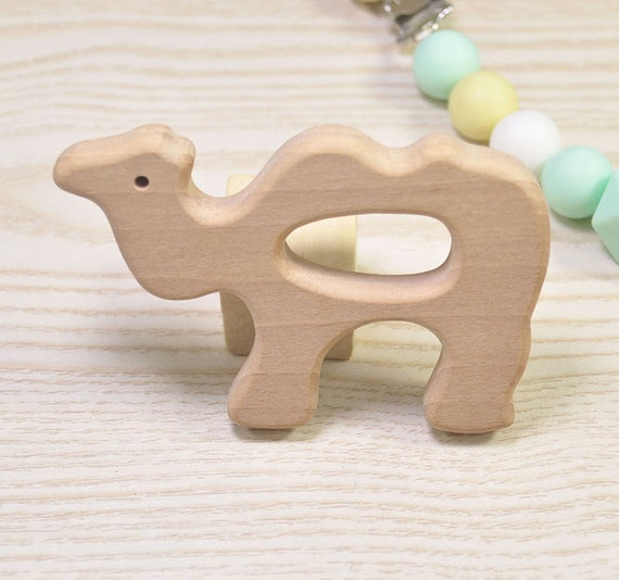 DIY Supplies for Safe Teething Necklace. 5pcs Natural Wood Teether,Hexagon Pendant,High-Quality Untreated Wood Teething ToyPendant