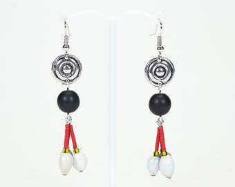Ethnic earrings 3 seeds