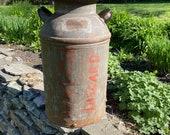 Vintage Milk Can Dairy Farm Large Rusty Dairy Milk Can - Vintage Farmhouse Decor - Vintage Planter - Vintage Farm