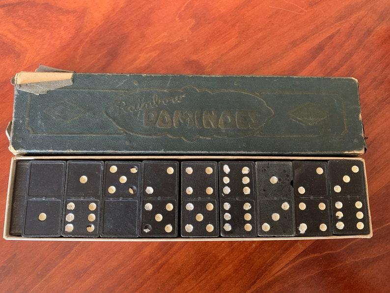 Vintage Wooden Domino Set Wood Dominos Antique Rainbow Wooden Domino Set Wooden Dominos Vintage Domino Set Rainbow Dominos Wood