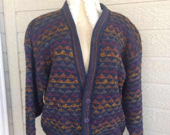 c1acde2412 Great Northwest Woman s Knit Button Sweater Vintage Sportswear Cardigan USA