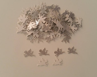 Set of 500 confetti Angel grey/silver glitter for decor, table or scrapbooking
