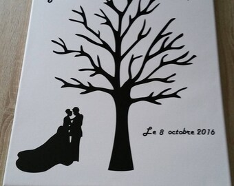 Tree prints on canvas size 40x50cm with explanatory sign