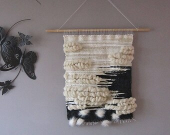 Woven wall hanging 'Black Sea'