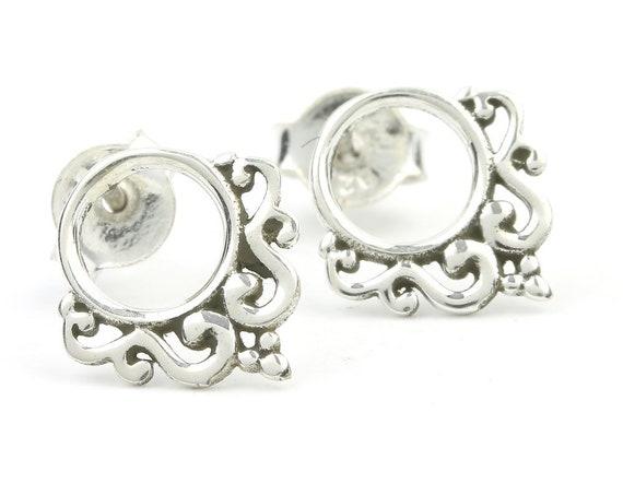 Luanda Earrings, Sterling Silver Stud Earrings, Post Earrings, Ethnic Stud Earrings, Yoga, Boho, Gypsy, Festival Jewelry