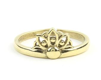 Brass Mandala Ring, Flower Ring, Meditation, Yoga Jewelry, Tribal, Ethnic Ring, Gypsy, Hippie Jewelry, Festival Jewelry, Boho