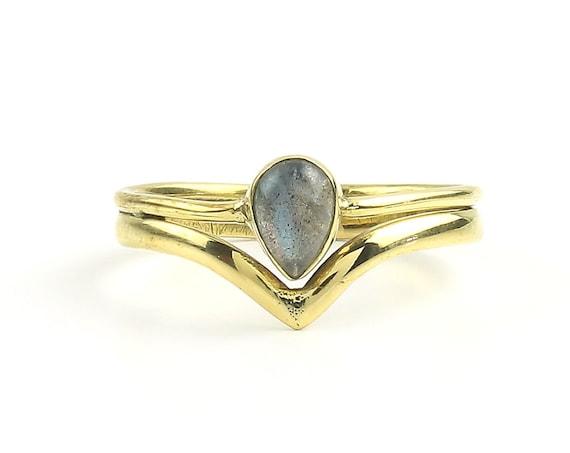 Bengal Ring, Brass Labradorite Ring , Meditation, Yoga Jewelry, Tribal, Ethnic Ring, Gypsy, Hippie Jewelry, Festival Jewelry, Boho