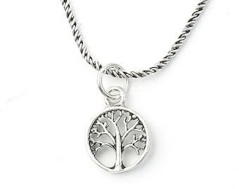 Sterling Silver Tree of Life Necklace, Small, Family Tree, Yoga Jewelry, Meditation, Spiritual, Boho, Bohemian, Gypsy, Festival, Hippie