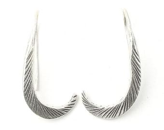 Waali Earrings, Sterling Silver Drop Earrings, Etched Earrings, Ethnic, Boho, Bohemian, Gypsy, Festival Jewelry