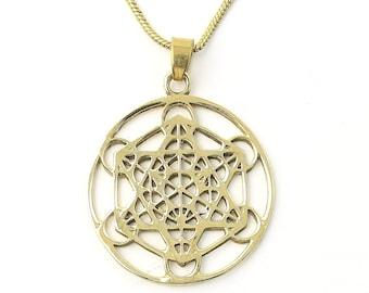 Metatron's Cube Necklace, Sacred Geometry necklace, seed, Festival Jewelry, Hippie, Gypsy, Geometric power necklace