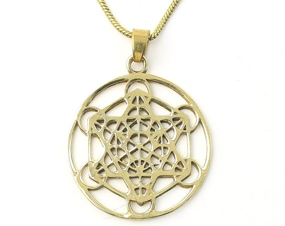 Metatron's Cube Necklace, Sacred Geometry necklace, seed, Festival Jewelry, Hippie, Gypsy, Geometric power necklace