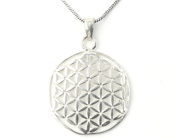 Flower of Life necklace, Sacred Geometry necklace, seed, Festival Jewelry, Hippie, Gypsy, Geometric power necklace