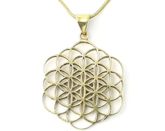 Seed of Life necklace, Sacred Geometry necklace, Flower of Life, Festival Jewelry, Hippie, Gypsy, Geometric power necklace