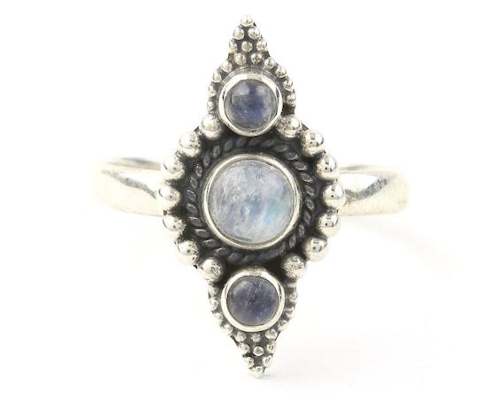 Kirkuk Moonstone Ring, Sterling Silver Moonstone Ring, Stone Jewelry, Gemstone, Crystals, Boho, Gypsy, Hippie Jewelry,