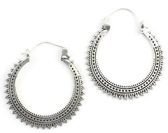 Mardin Earrings, Hoop Earrings, Mandala Earrings, Tribal Earrings, Festival Jewelry, Gypsy Earrings, Ethnic, Yoga