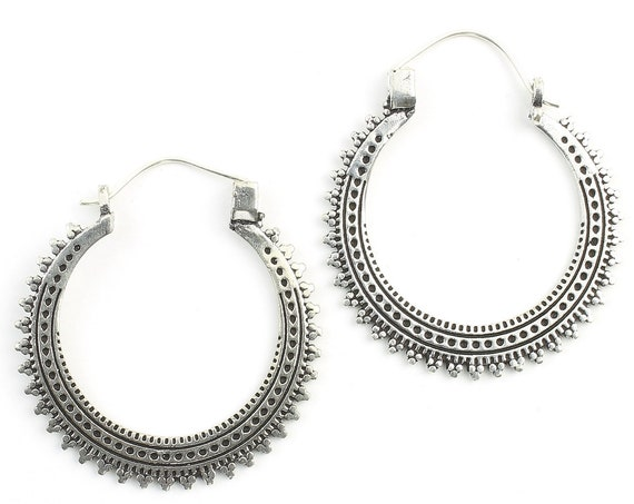 Mardin Earrings, Hoop Earrings, Mandala Earrings, Tribal Earrings, Festival Jewelry, Gypsy Earrings, Ethnic, Yoga