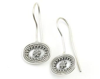 Adoni Earrings, Sterling Silver Earrings, Mandala, Boho, Tribal Earrings, Festival Earrings, Gypsy Earrings, Ethnic Earrings