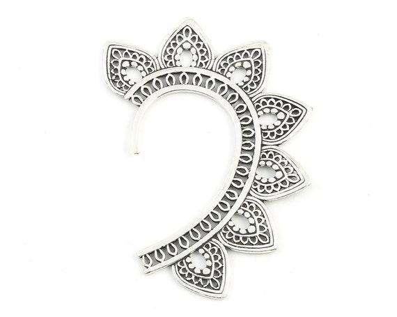 Mandala Ear Wrap, Ear Cuff, Boho Jewelry, Tribal Ear Jewelry,  Festival Jewelry, Gypsy, Ethnic, Hippie Jewelry
