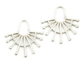 Luru Earrings, Sterling Silver Earrings, Mandala, Boho, Tribal Earrings, Festival Earrings, Gypsy Earrings, Ethnic Earrings
