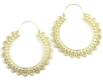 Extra Large Mandala Earrings, Pali Earrings, Large Brass Festival Earrings, Statement Piece, Boho, Modern, Festival, Gypsy Earrings, Ethnic