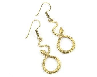 Snake Earrings, Cobra Earrings, Serpent, Boho, Heart Earrings, Tribal Earrings, Festival Jewelry, Gypsy Earrings, Ethnic
